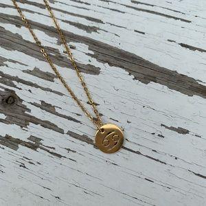 Cancer Zodiac Sign Pendant Necklace